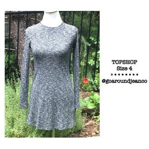TOPSHOP Long Sleeve Dress Size 4